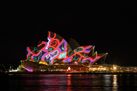 sydney opera house: Sydney Opera house during vivid festival