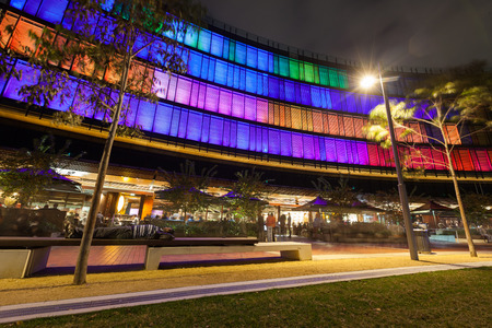 light display: Luminous Display in Darling Harbour is the largest permanent interactive light display in the world.