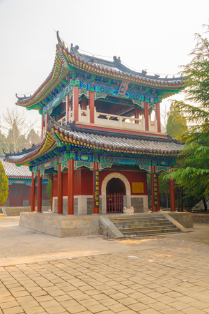 Longkou,Yantai,Shandong,China - December 19 2018 : the complex of nanshan temple of longkou one of the most beautiful and largest temple in China