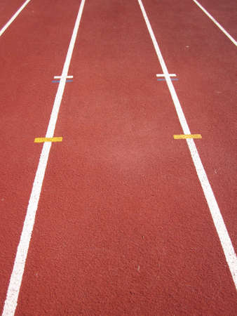 Details of a athletics running track       Stock Photo - 10763071