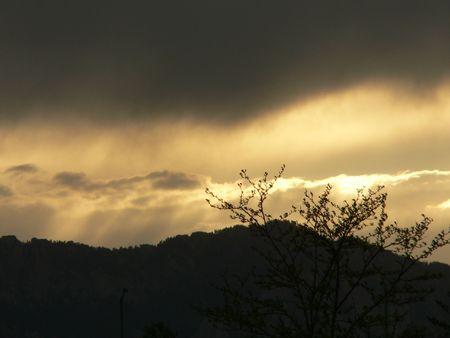 the setting sun: Setting Sun in Denver