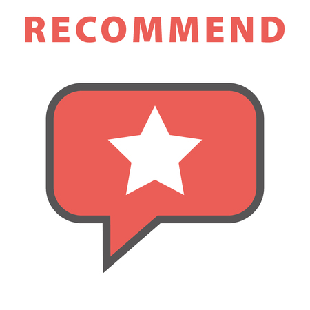Recommend icon. Vector illustration.