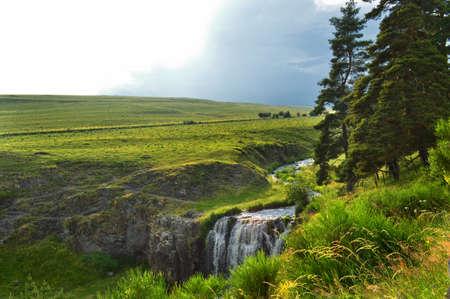 cantal: beautiful green landscape