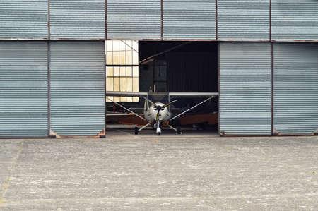 hangar: An aircraft hangar Stock Photo