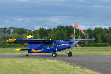 avionics: Plane on airport