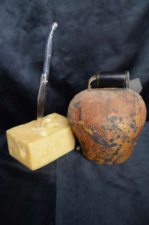 terroir: A piece of Swiss cheese, Emmental with a cowbell