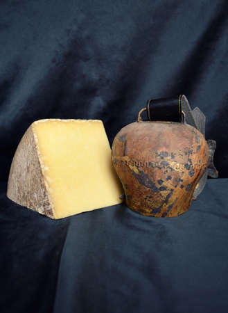 terroir: Cantal cheese, Region of Auvergne. French country.