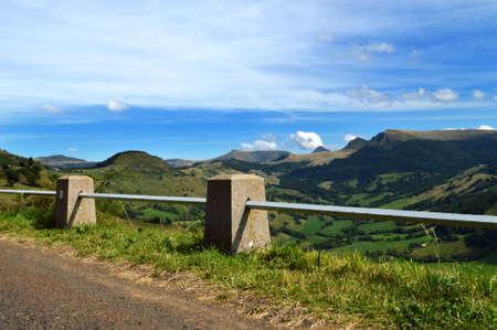 Dangerous mountain road and wonderful mountain landscape