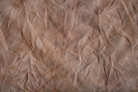 bedraggled: Crinkle Fabric Background Stock Photo
