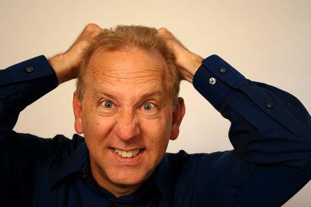 exasperation: Frustrated Older Man