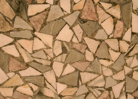 dovetail: Chipped Stone Mosaic