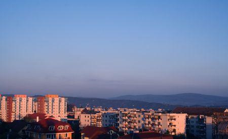 Roemeense Sunrise Stockfoto