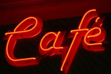 nosh: Cafe Sign Stock Photo