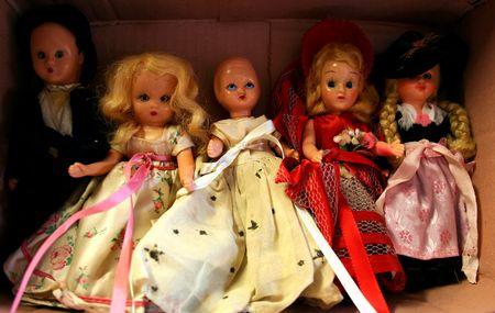 Vintage Dolls Stockfoto