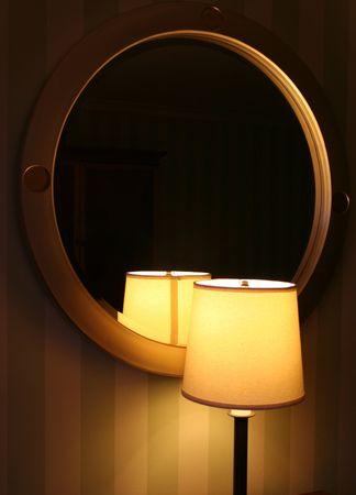 lamp shade: Lamp and Mirror