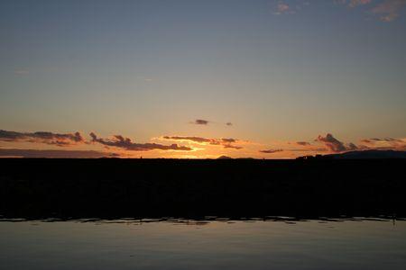 breakwater: Sunset over Alaskan Breakwater