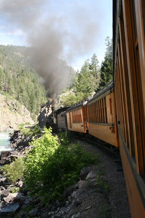 narrow gauge: Durango & Silverton Narrow Gauge Train Stock Photo