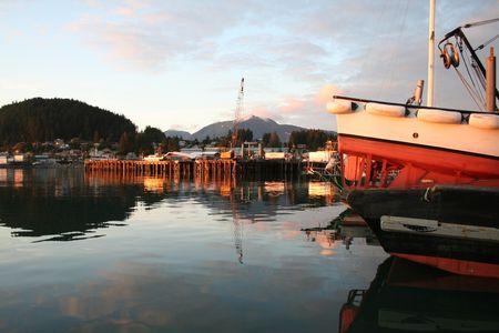 Alaskan Seine Skiff at Sunset photo