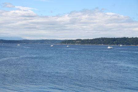 puget: Boats on Puget Sound near Seattle, Washington