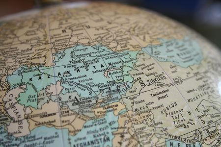 Globe with Focus on Kazakhstan