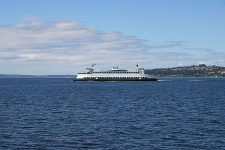 puget: Seattle Washington Ferry Crossing Puget Sound