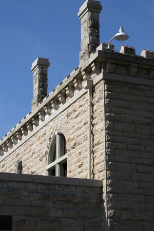 p�nitencier: Architectural Detail of Historic Old Idaho Penitentiary