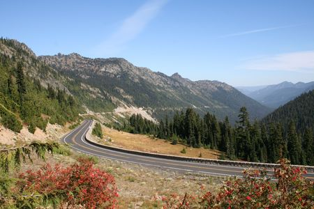 chinook: Chinook Pass orientale ai piedi del Monte. Ranieri nello Stato di Washington