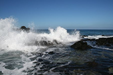 Pacific Ocean Waves Crash on Rocky Coast Stock Photo - 6253634
