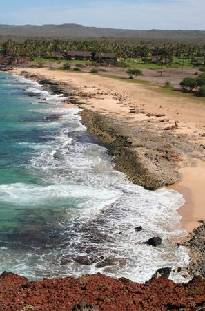 Molokai Hawaii Coastline with Resort Stock Photo - 6604490