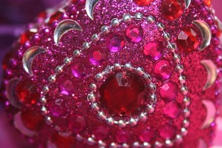 jeweled: Pink Jeweled Heart Closeup Stock Photo