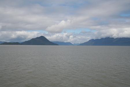 Alaska Island Landscape with Stikine River Mouth Stock Photo