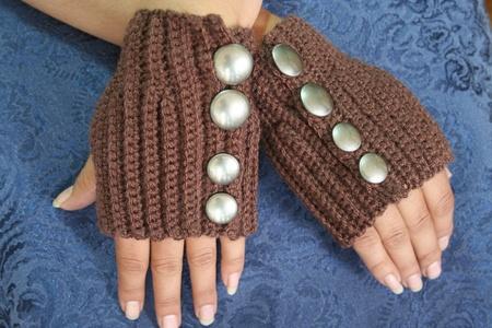 Steampunk Style Fingerless Gloves