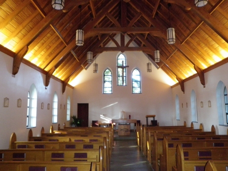 rafters: Historic Catholic Shrine of St. Therese at Juneau Alaska