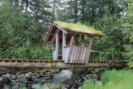 alaska: Troll Bridge at Petersburg Alaska Sandy Beach Park