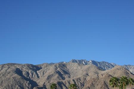 palm springs: Palm Springs California Mountain Range Stock Photo