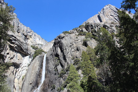Lower Yosemite Falls in California photo