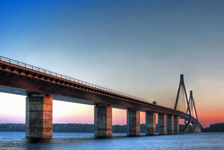 Faroe bridge in Denmark Stock Photo