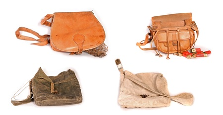 Four old hunting bags photo