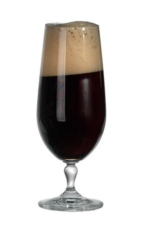 Glass of dark beer