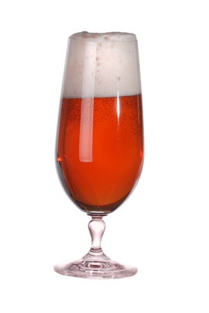 Glass of red lager beer Stock Photo