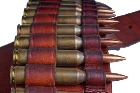 Cartridge belt with  rifle ammunition
