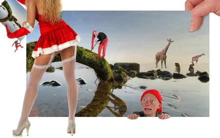 The crazy world of the Elves, filled with strange animals and strange  persons (Model Released)