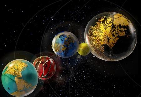 Planet Constellation Stock Photo