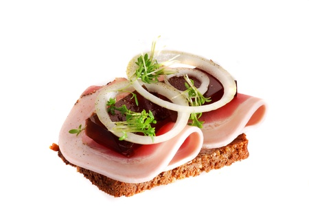 Danish open sandwiches photo