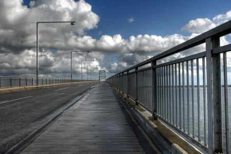 Moen Bridge in Denmark photo
