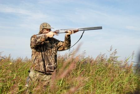 fusil de chasse: duckhunter Banque d'images