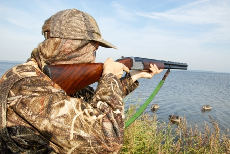 decoy: duckhunter Stock Photo