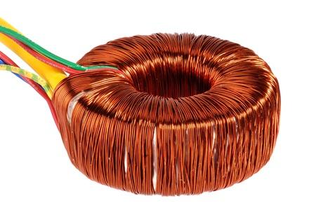 bobina: Anillo núcleo del transformador