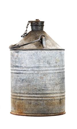 petrol can: Bid�n de gasolina Foto de archivo