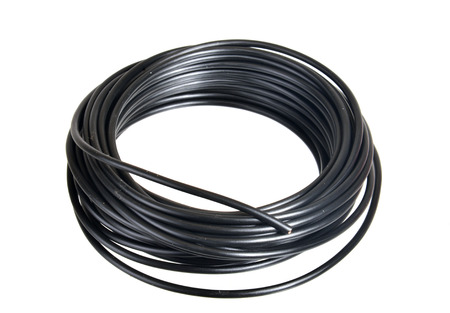 Roll of black electrical wire for 12  volt applications, minus